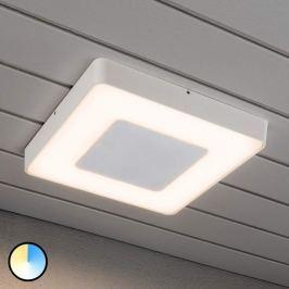 Carrara - weiße LED-Außendeckenleuchte quadratisch