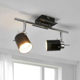 LED-Strahler Frederik mit schwarzem Glas, GU10
