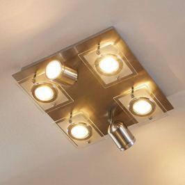 Deckenlampe Fjolla mit dimmbaren GU10-LEDs, 6-fl.