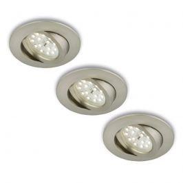 Drehbarer LED-Einbaustrahler 3er-Set matt-nickel