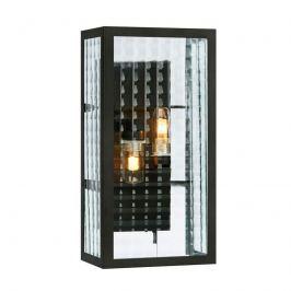 Badezimmer-Wandleuchte Fulham IP44, schwarz