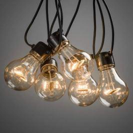 Bernsteinfarbene LED-Lichterkette Biergarten