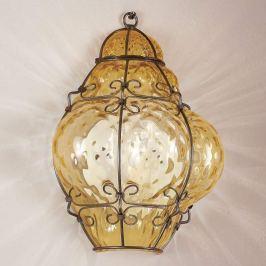 Classic - handgearbeitete Wandlampe in Amber