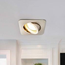 Charna - eckige LED-Einbauleuchte in Nickel