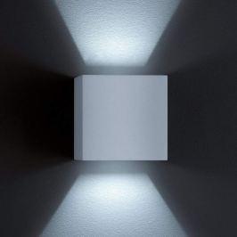 Helestra Siri 44 - LED-Außenwandleuchte silbergrau