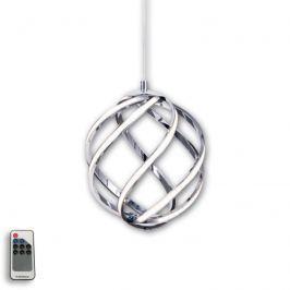 Elegante LED-Pendelleuchte Twist, chrom Ø 22cm