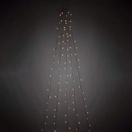 LED-Baummantel m. vormontierten Globes 200fl