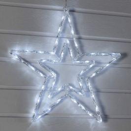 In Doppeloptik - weiß leuchtender LED-Stern