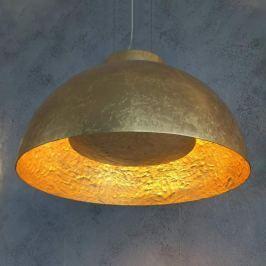 Hängeleuchte Globus mit metallischer Kuppel