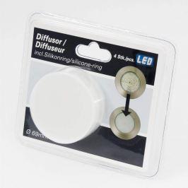 4er-Set Diffusoraufsatz für Einbauleuchten 6,9 cm