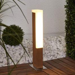 LED-Sockelleuchte D-Retta in Holzoptik