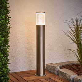 Sockellampe Belen aus Edelstahl mit LEDs