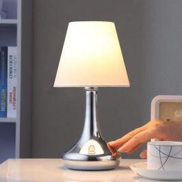 Adrette Tischlampe Marike mit Stoffschirm