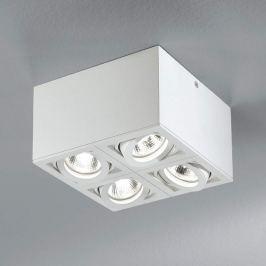 Vierfacher Deckenstrahler Light Box Q4, weiß