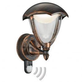 Außenwandleuchte Gracht LED mit Bew.-M rostfarben