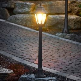 Schwarze LED-Wegeleuchte Mizar Anna, seewasserfest