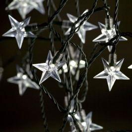 LED Lichterkette, warmweiß mit Sternen