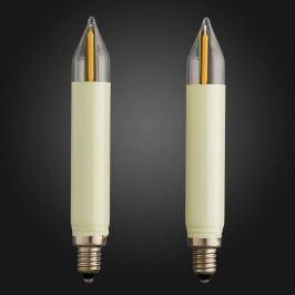 E10 0,5W 12V Ersatz LED-Schaftkerze im 2er Pack