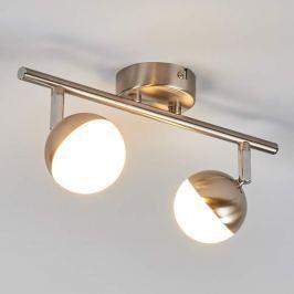 2-flammiger LED-Spot Jonne, nickel matt
