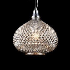 Bauchig geformte Glas-Pendelleuchte Moreno