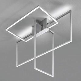 Area - aluminumfarbene LED-Deckenleuchte