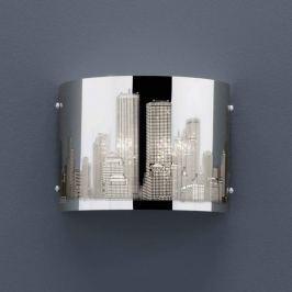 Lasergeschnittene Wandleuchte Skyline