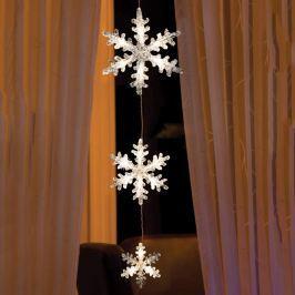 Bezaubernde LED-Lichterkette Schneeflocken