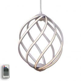 Elegante LED-Pendelleuchte Twist, aluminium Ø 36cm
