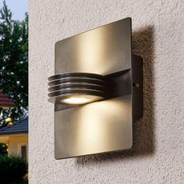 Anthrazitfarbene LED-Außenwandleuchte Split