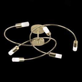 Agir - sechsflammige LED-Deckenlampe, messing pol.