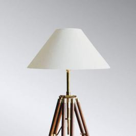 Dreibein-Stehleuchte Stativ mit weißem Schirm