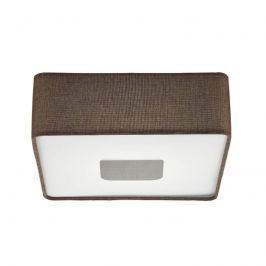 Quadratische Textil-LED-Deckenleuchte Tacuba 35 cm