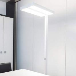 System 01 LED-Stehleuchte Büro, weiß, 3.000K