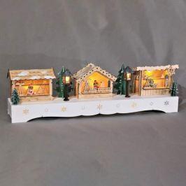 Festlicher LED-Schwibbogen Weihnachtsmarkt