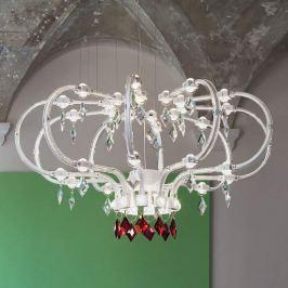 Weiß-transparenter LED-Kronleuchter Raqam F