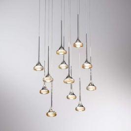 Axolight Fairy 12-flammige LED-Hängeleuchte, amber
