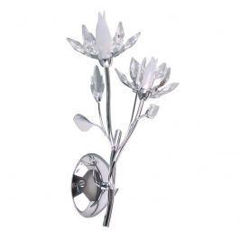 Florale LED-Wandleuchte Okra, zweiflammig
