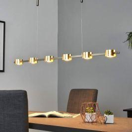 Edles Goldfinish - LED-Hängelampe Niro, dimmbar