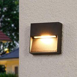 Eckige Außenwandlampe Marlis mit LEDs