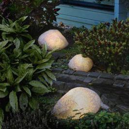 Steinleuchten mit Gummianschluss granit 47 cm