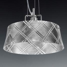 Elegante Hängeleuchte CORALLO 30 1-flammig, silb