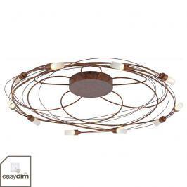 Nelia - LED-Deckenleuchte 10fl Ø 80 cm rost