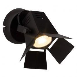 Technisch wirkende LED-Wandleuchte Movie, schwarz