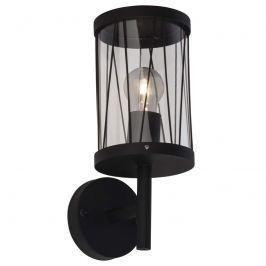 Schwarze Außenwandlampe Reed mit Ausleger