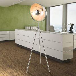 Dreibein-Stehlampe Nosy nickel/silber