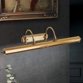 Vergoldete Bilderleuchte Gustav aus Messing, 70 cm