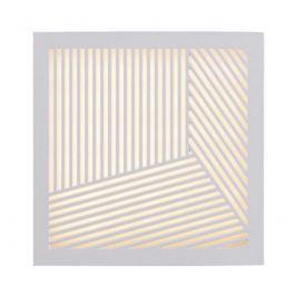 LED-Außenwandleuchte Maze Straight in Weiß