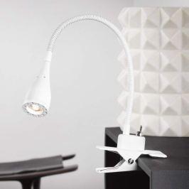 Biegsame LED-Klemmleuchte Mento, weiß