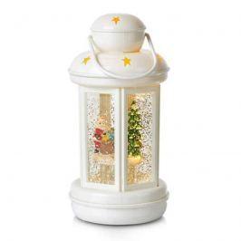 Glitter-gefüllte Dekolaterne Cosy LED weiß