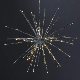 LED-Dekoleuchte Firework, 5 Lichtvarianten, silber